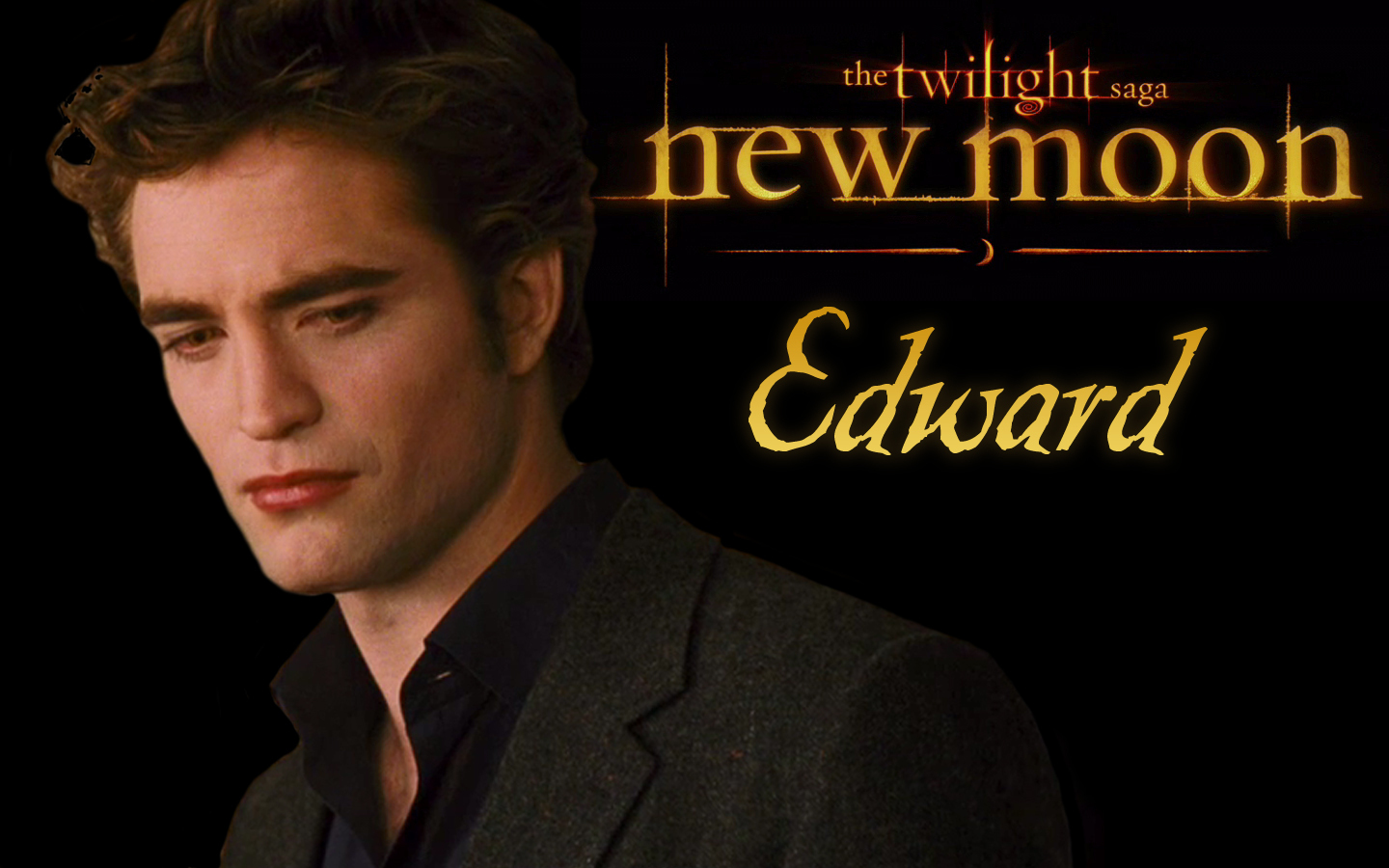 edward new moon edward cullen vs jacob black wallpaper