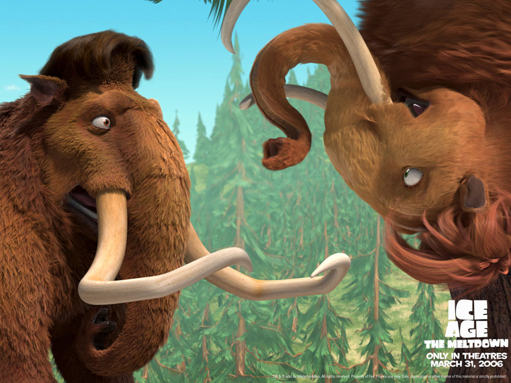 ice age images ellie & manfred hd wallpaper and background photos
