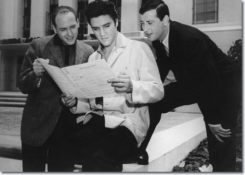 Elvis Presley with Leiber and Stoller