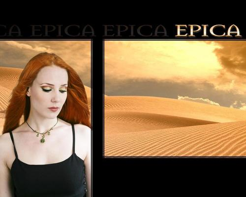 Symphonic Metal 壁紙 possibly containing a カクテル dress, a bustier, and a chemise entitled Epica