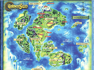 Golden Sun 2 The Lost Age Map