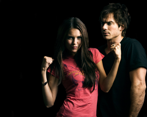 Ian&amp;Nina - ian-somerhalder-and-nina-dobrev Photo