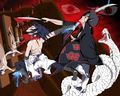 Itachi vs Sasuke  - naruto-shippuuden fan art