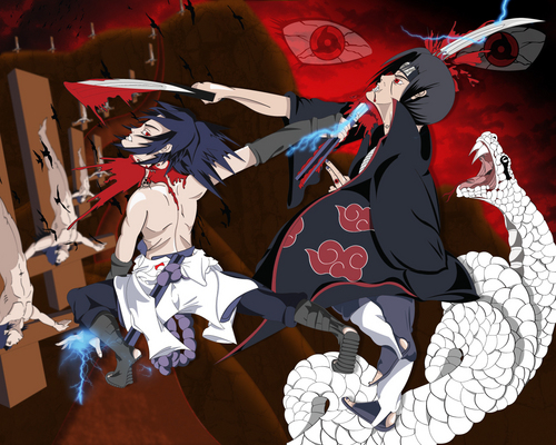 naruto shippuden wallpaper entitled Itachi vs Sasuke