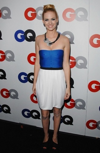 January Jones fond d'écran possibly containing bare legs, tights, and a cocktail dress titled January Jones