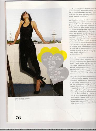 Jessica in Foam Magazine (scans)