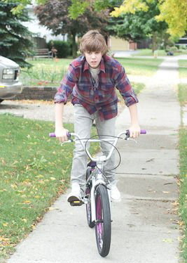 Justin on a bicycle 2!.