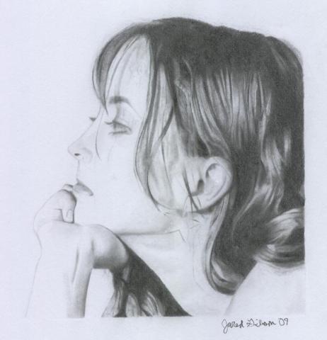 KI pencil portrait