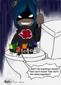 Konan Flushing The Toilet with akatsuki in it