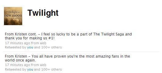Kristen Tweeted!