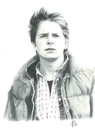 Michael J Fox wallpaper probably with an outerwear titled Martin Mcfly