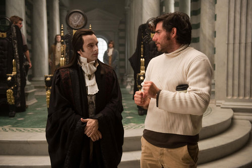 Michael Sheen on the set of New Moon