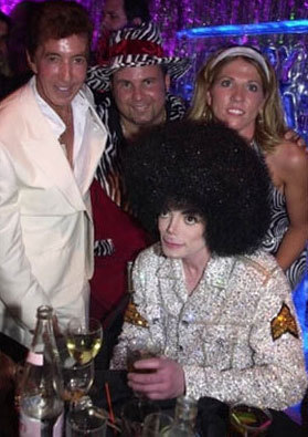 Michael with a wig on - michael-jackson photo