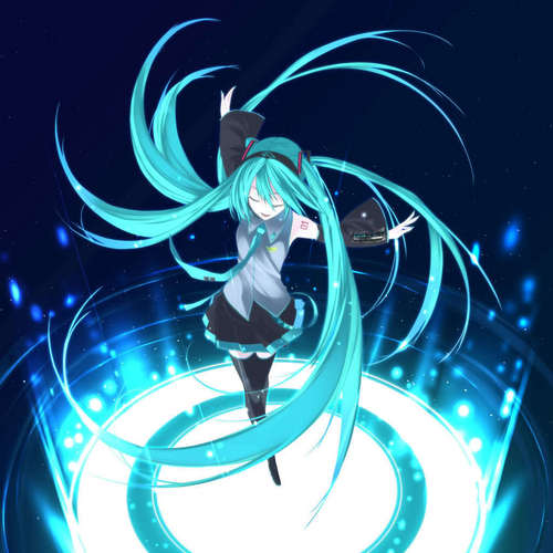 Vocaloids wallpaper called Miku Hatsune Twirl