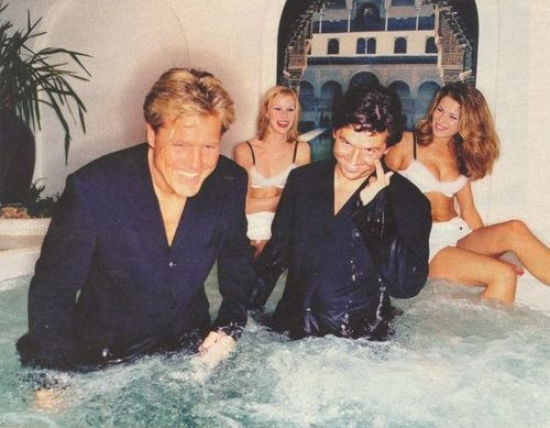 Modern Talking Hintergrund containing a hot tub called Modern Talking - Dieter & Thomas