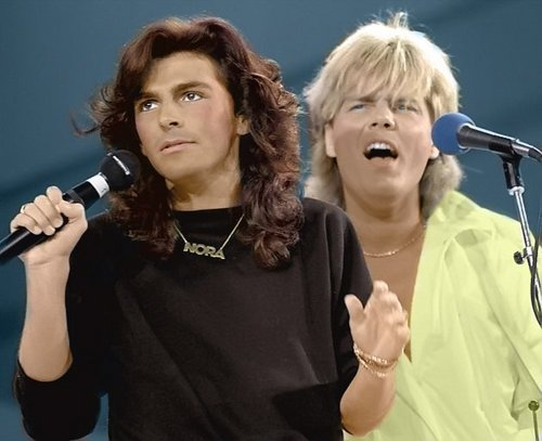 Modern Talking Hintergrund titled Modern Talking - Dieter & Thomas