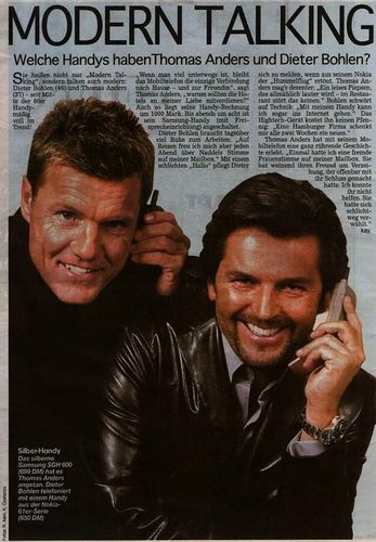 Modern Talking Hintergrund with a newspaper and Anime titled Modern Talking