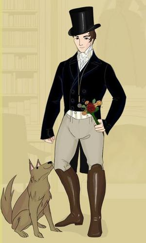 Period Films wallpaper with a well dressed person entitled Mr Darcy - dress up doll