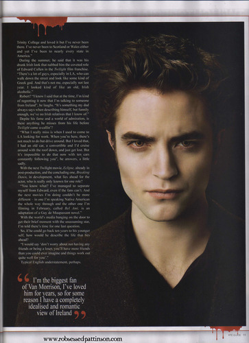 New Interview RTE Guide - Robert Pattinson's Only Irish Interview
