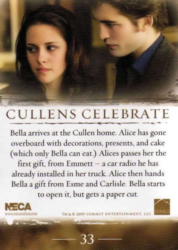 Edward and Bella wallpaper called New Moon - Trading Cards [SPOILERS]