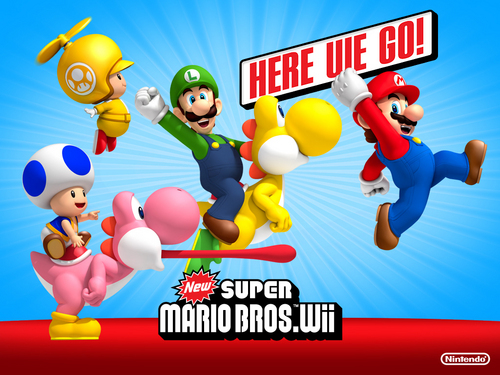 Nintendo wallpaper entitled New Super Mario Bros. Wii