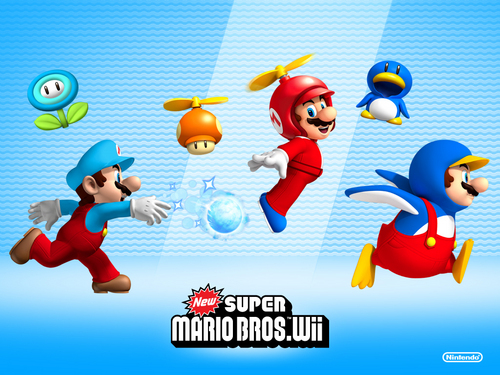 nintendo wallpaper titled New Super Mario Bros. Wii