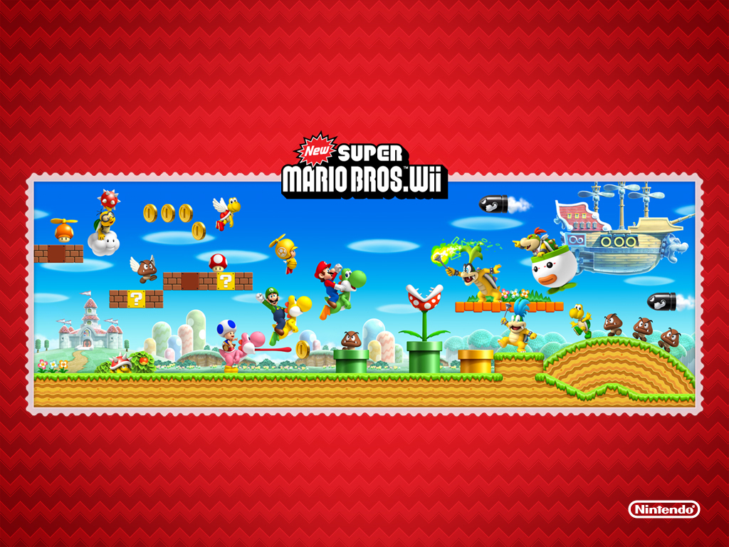 New Super Mario Bros Wii Nintendo Wallpaper 9133522 Fanpop