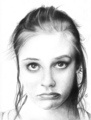 Pouty Alicia Silverstone in Black and White - alicia-silverstone fan art