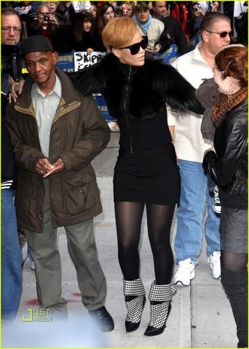 Rihanna on Letterman