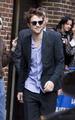 Rob arriving at Letterman  - twilight-series photo