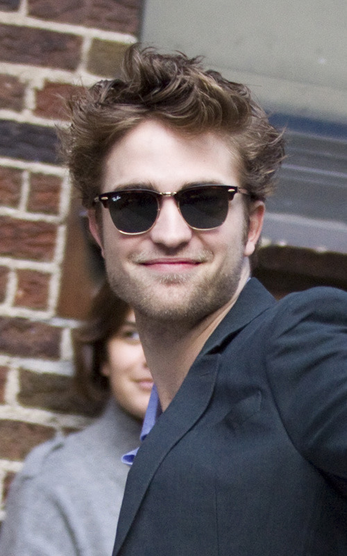 Rob arriving at Letterman
