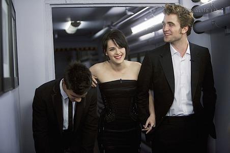Robert Pattinson, Kristen Stewart & Taylor Lautner Visit Jimmy Kimmel
