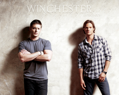 Supernatural wallpaper possibly containing a well dressed person titled Sam & Dean