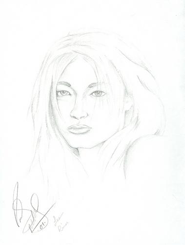 Sketch of Leann Rimes