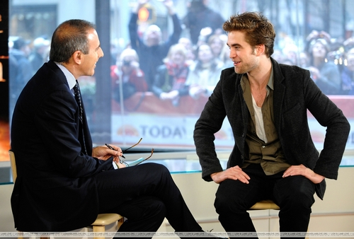 Stills of Robert Pattinson on 'The Today Show'