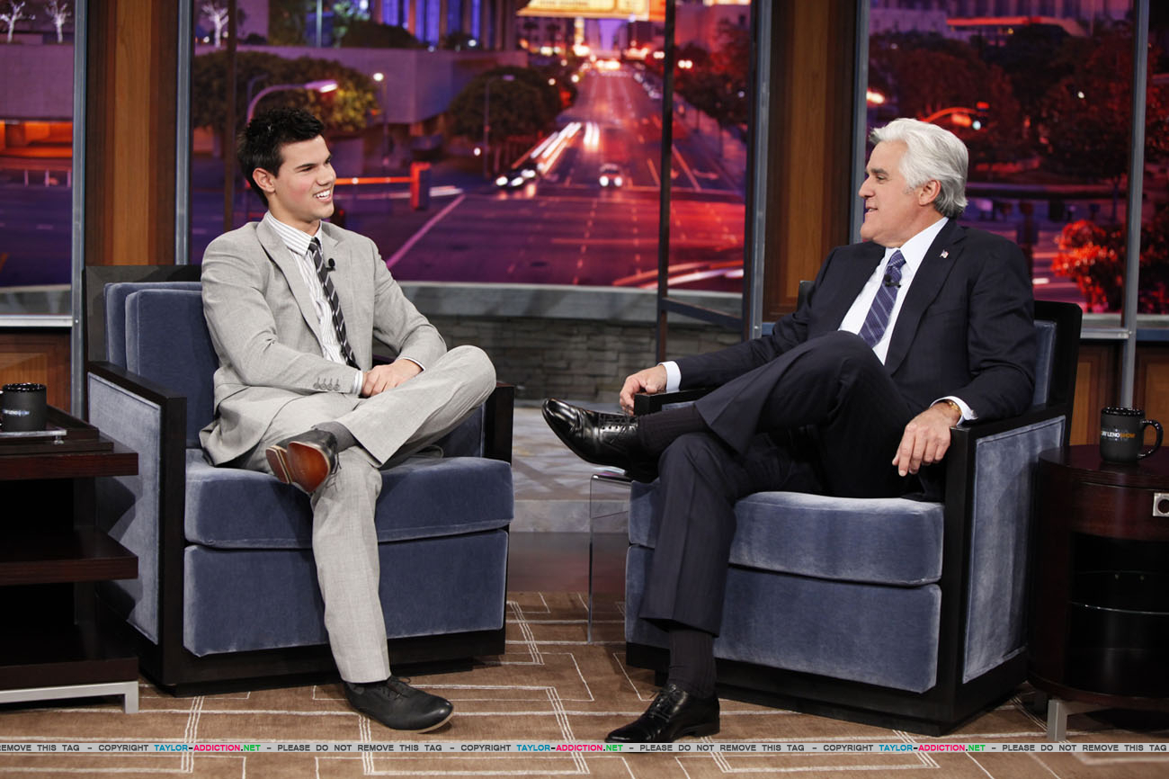 Taylor on gaio, jay Leno