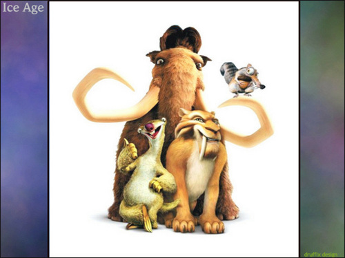 Ice Age Hintergrund possibly containing Anime titled The Herd