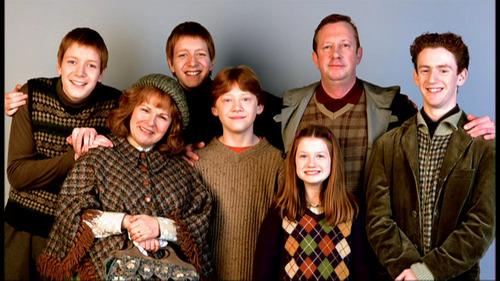 Harry Potter wallpaper probably with a business suit and a well dressed person entitled The Weasley Family :)