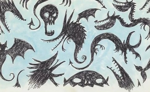 Tim burton wallpaper possibly containing a paisley titled Untitled (Creature Series)
