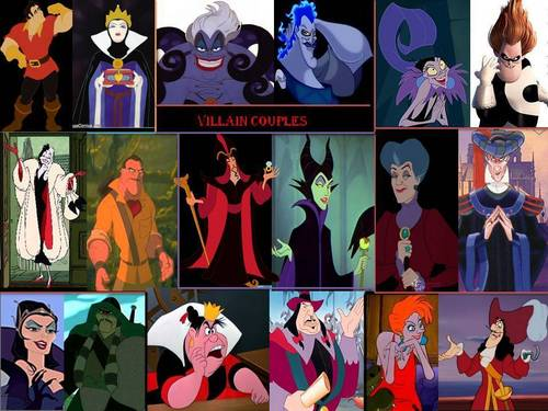 Disney Villains hình nền probably containing anime called Villain Couples