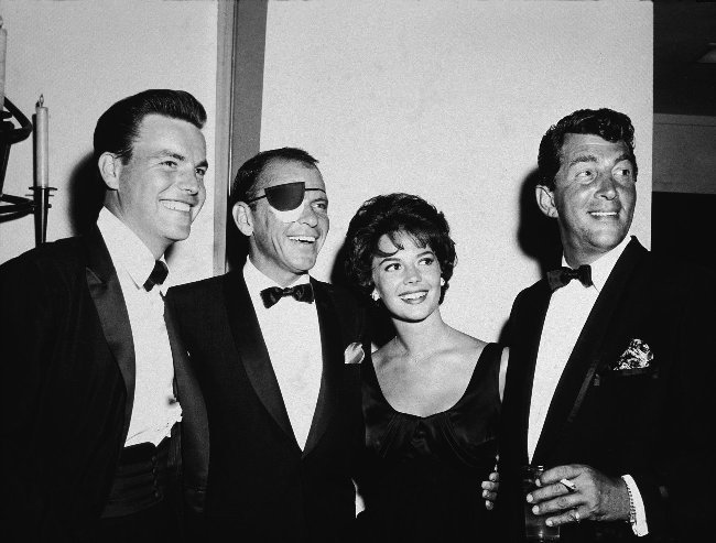 With Frank Sinatra, Dean Martin and Robert Wagner