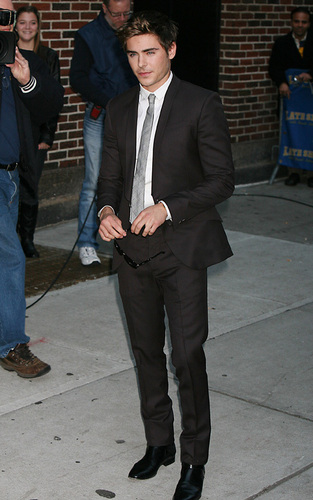 "Zac at ""Late Show with David Letterman"""