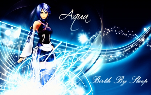 Kingdom Hearts fond d'écran titled aqua