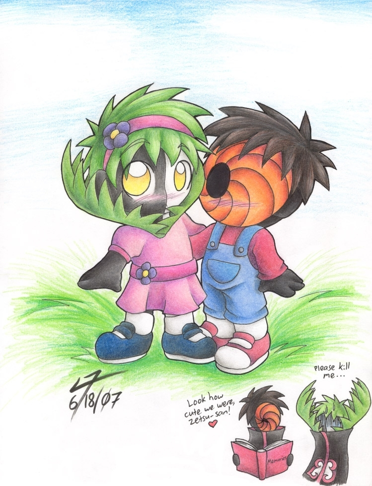 cute tobi and zetsu - naruto-shippuuden fan art