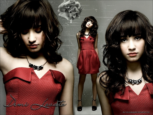 Demi Lovato wallpaper containing a cocktail dress entitled demiii