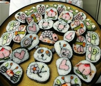 Kawaii sushi cartoons photo