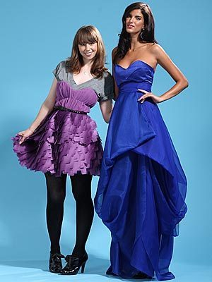 Project Runway wallpaper with a gown, a dinner dress, and a balldress entitled leanne Marshall