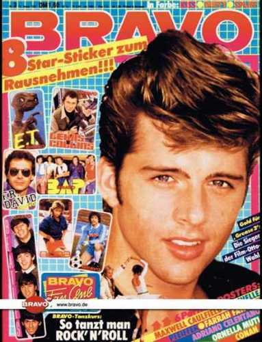 michael on grease 2 on the cover of the magazine