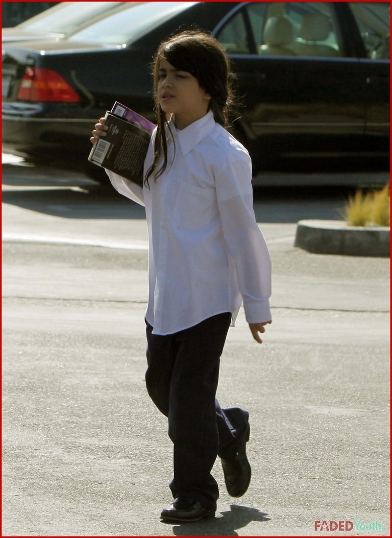prince,paris and blanket going to the library