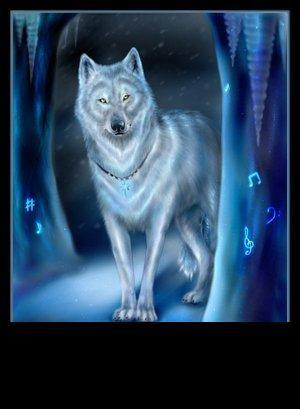 white serigala fantasi